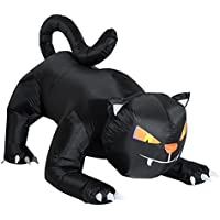 HomCom 6-ft Outdoor Lighted Airblown Inflatable Black Cat