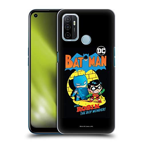 Head Case Designs sous Licence Officielle Super Friends DC Comics Batman Et Robin Jeunes Enfants Couverture Bandes Dessinées Coque Dure pour l'arrière Compatible avec Oppo A53 / A53s