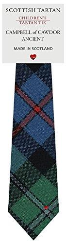 I Luv Ltd Garçon Tout Cravate en Laine Tissé et Fabriqué en Ecosse à Campbell of Cawdor Ancient Tartan