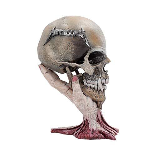 Nemesis nu Metallica triest maar waar schedel 22cm, hars, taupe, een maat