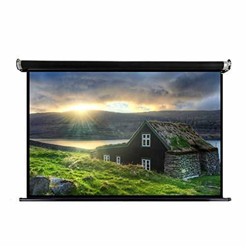 FACC Pantalla Proyector 60 Pulgadas Pantalla Proyector Enrollable Manual Tela Proyector16:9 HD Ángulo De Visión Amplio De 170 ° para El Videojuego De La Oficina En Casa