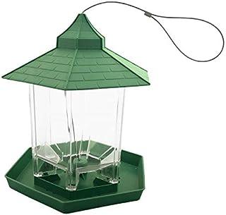 Skycabin バードフィーダー【エサの容量を簡単把握・広いフィードスペース・約1kgのエサを設置可能】野鳥 用 給餌器 餌台 吊下げ