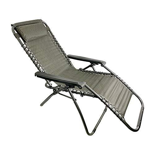 FineHome Premium Comfort Gartenstuhl Relaxsessel Liegestuhl Relaxstuhl klappbar und verstellbar inkl Kopfpolster