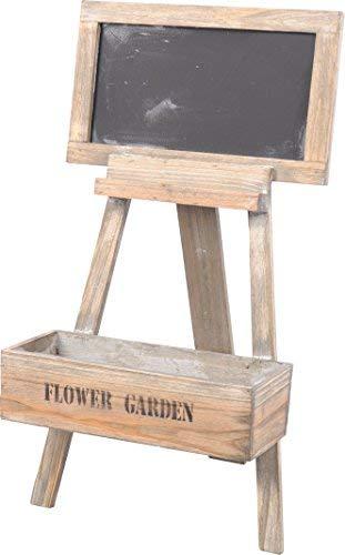 Spetebo Support pour fleurs en bois au look shabby chic - Jardinière décorative avec tableau d'écriture - Jardinière à fleurs