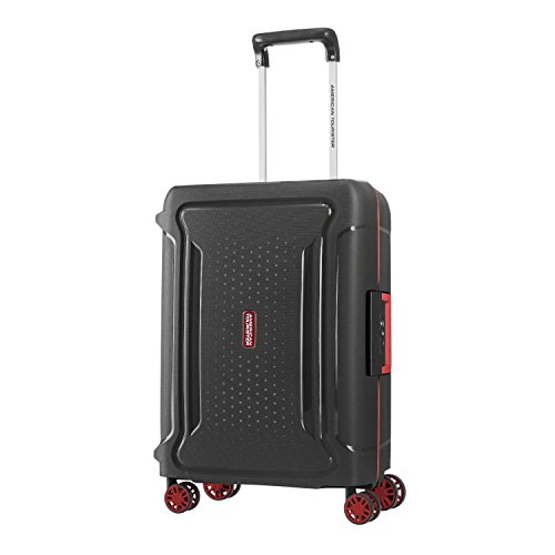 American Tourister Tribus Hardside Luggage with Spinner Wheels, Black, Carry-On 20-Inch