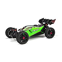 POWERFUL RC TRUCK: Built for fast Speed Buggy action out of the box. DURABLE MATERIAL: New features that enhance its unstoppable performance include a stronger chassis and retained hinge pin plates; steering with more clearance for stones; a castella...