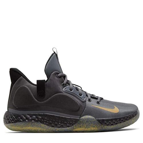 Nike Herren KD Trey 5 VII Basketballschuhe, Dark Grey/Black/Club Gold/Metallic Gold (44 EU)