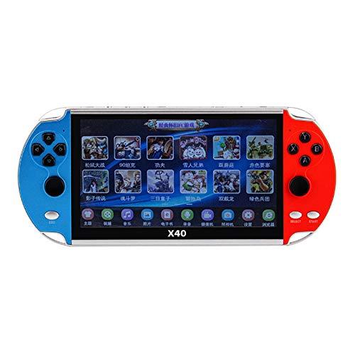 Console de jeu portable X40 avec jeux 22800 de GBA / NES / FC / PC, mini-lecteur de jeu rétro avec 2 manettes de jeu Écran LCD de 16 Go de 7,1 pouces, MP3 / MP4, appareil photo, console de jeux vidéo