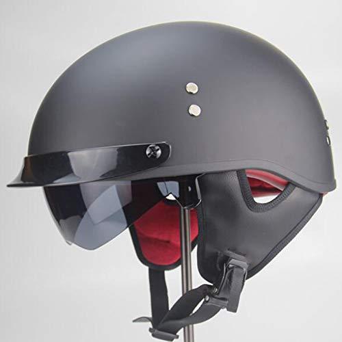 ZHEN Cascos Abiertos para Moto Retro Casco Moto Abierto,ECE Homologado,Profesional Half Moto Cascos Helmet para Mujer y Hombre,Adultos Confortable Casco Moto Jet para Street Bike
