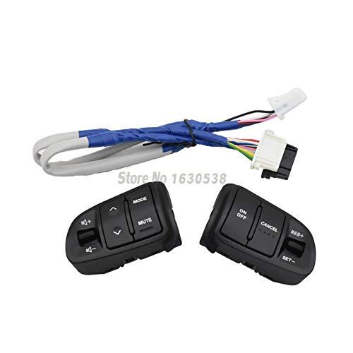 BXSAUISA Interruptor de dirección Control de Velocidad en Forma for KIA 2016 Sportager 2011-2014 Directivo botón de la Rueda de Control de Audio Botones de Volumen Interruptor Modificación