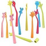 JZK 25 x Bolígrafos creativo con forma de dedo para estudiante niños regalo detalles Invitaciones cumpleanos Infantil escuela papelería y suministros de oficina