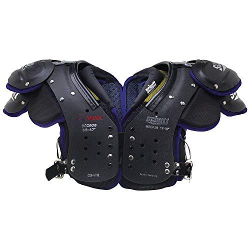 Schutt Sports Varsity O2 Maxx QB/WR Shoulder Pad, Black/Purple, Medium