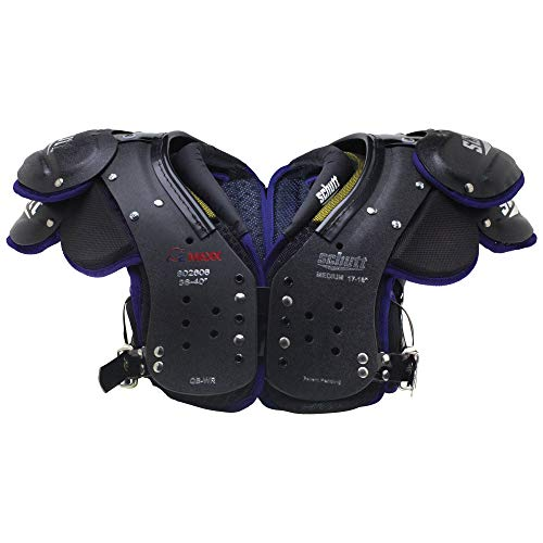 Schutt Sports Varsity O2 Maxx QB/WR Shoulder Pad, Black/Purple, Small