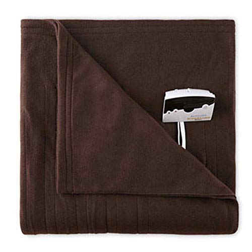 Biddeford 1000-9052106-711 Comfort Knit Fleece Electric Heated Blanket Twin Chocolate