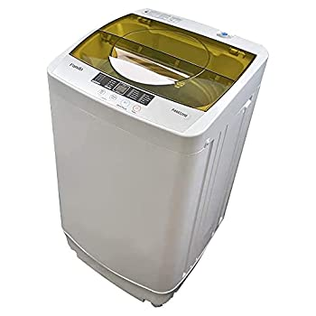 Panda PAN6320W Portable Machine 10lbs Capacity 10 Wash Programs 2 Built in Rollers/casters Compact Top Load Cloth Washer 1.34 Cu.ft Gray