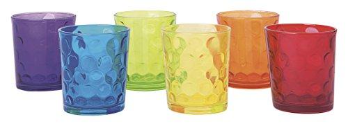 Excelsa Dallas Confezione 6 Bicchieri cl 26, Multicolore, 7.6x7.6x8.5 cm, 6 unità
