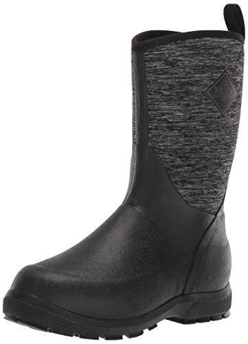 Muck Boot Unisex-Kid's Element Knee High Boot, Black/Heathered Jersey, Child 8 Regular US Big Kid