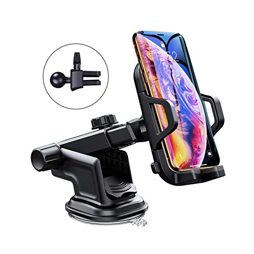 Galaxy S6/S7/S8/S9 Grey Simr K9 Dashboard Car Phone Holder,Upgraded Adjustable Windshield Holder with Washable Strong Sticky Gel Pad for iPhone Xs MAX/XS/XR/X/8/8Plus/7/7Plus/6s/6P Car Phone Mount