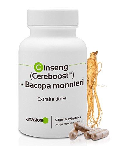 Anastore Ginseng Cereboost y Bacopa Monnieri 423 mg - 60 Cápsulas