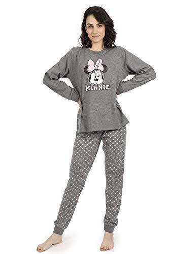 Disney Pijama Manga Larga Minnie Hearts para Mujer