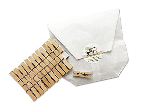 24 kleine Mini-Wäscheklammern für Adventskalender, 35mm, robust aus Holz, Miniklammern, Miniwäscheklammern zum Basteln, für DIY Deko, Fotos, Fotoleine und selbstgemachte Adventskalender