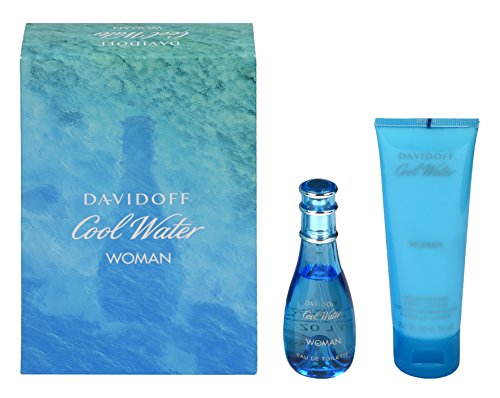 Davidoff Cool Water Woman Geschenkset für Sie (EdT Spray 30ml + Body Lotion 75ml)