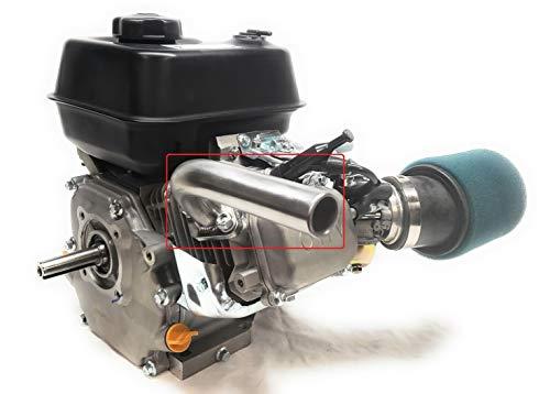Exhaust Pipe For: Predator 212cc NON-HEMI & Predator HEMI. Go Kart & mini bikes.