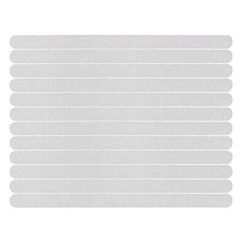 Générique 12 pcs antidérapant Bandes Stickers pour Bain/Douche Tapis de Sol Tapis de Bande de sécurité (Blanc)