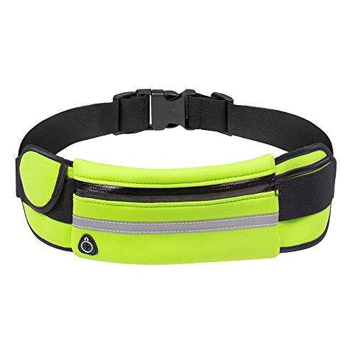 R-Cors Bolso para teléfono móvil con Bolsillos para cinturón Deportivo al Aire Libre para Hombres y Mujeres (Verde)