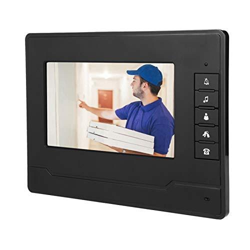 LCD TFT de 7 Pulgadas fácil de Instalar con Timbre de intercomunicación Impermeable HD(European Standard 100-240V)
