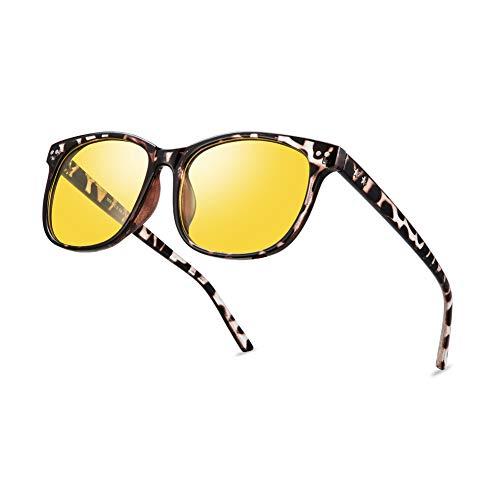 Night Vision Driving Glasses Polarized Anti-glare Clear Sun Glasses Men & Women Fashion(Leopard)