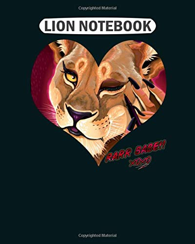 Lion Notebook: rarr babe  College Ruled - 50 sheets, 100 pages - 8.5 x 11 inches