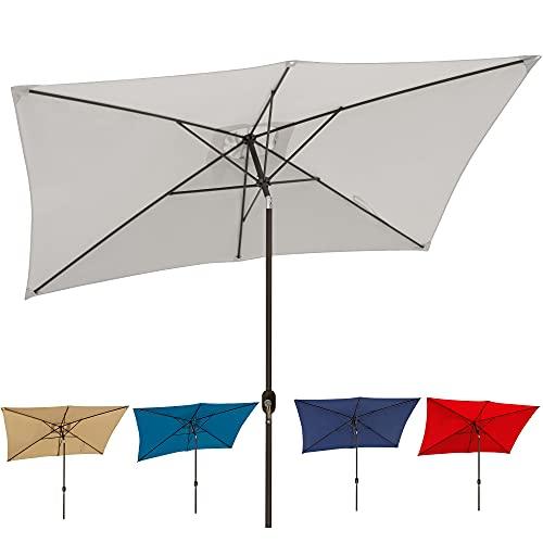 Blissun 10' Rectangular Patio Umbrella Outdoor Market Table...