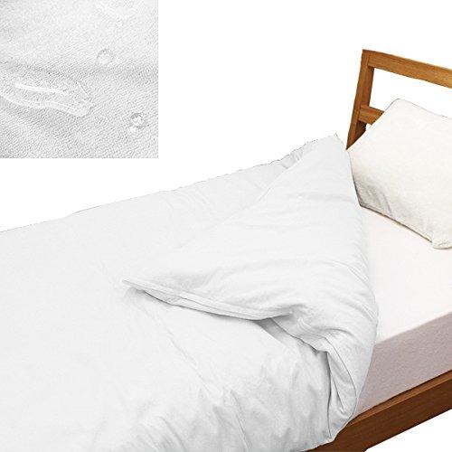 防水 掛け布団カバー (オフホワイト, シングル (150×210 ) シングル セミダブル ダブル おねしょ対策 犬 猫 おしっこ対策 パイル地