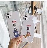 トムとジェリー iPhoneケース 携帯カバー 携帯ケース スマホ キャラクター かわいい クリア 透明 韓国 人気 iPhone7/8 se(第二世代) X/Xs XR iphone11 11pro 11promax 12 12pro 12proMax 12mini (iPhone12,12pro, TOM)