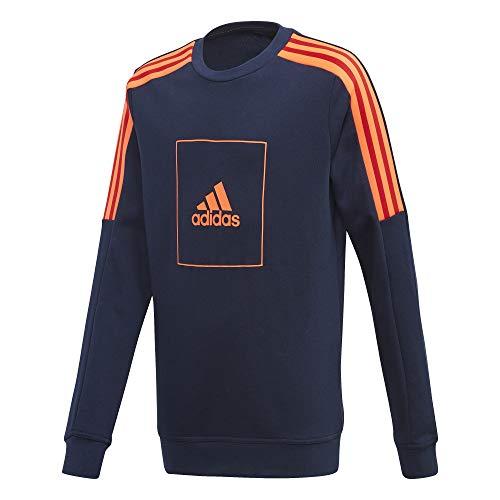 adidas Jungen JB A AAC Crew Sweatshirt, Red, 3-4Y
