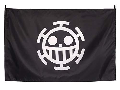 CoolChange One Piece Flagge Flag mit Jolly Roger der Heart Piratenbande Trafalgar Law 90x60cm