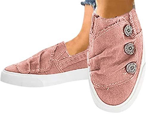 Women Canvas Flat Shoes Sports Runn…
