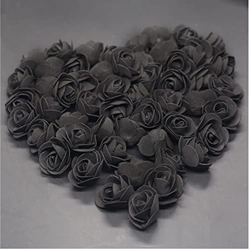 500Pcs Mini 3.5Cm Black Pe Foam Roses Head Fake Flower Handmade Wedding Decoration