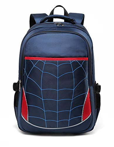 Boys Backpack for Kids Elementary School Bags Durable Kindergarten Bookbags (Royal Blue)