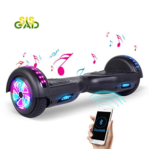 SISGAD Hoverboard - 6.5""\"" Self Balance Elektro Scooter with LED Lights - 2 Wheels Hoverboard Kinder - 2 * 300W Motor, UL Zertifikat500|500|?|3d17ad63937b71fed3467667fc06e517|False|UNLIKELY|0.34870076179504395