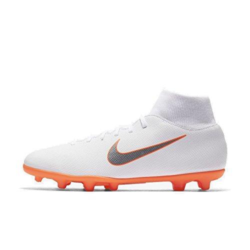 Nike Mercurial Superfly 6 Club MG (White/Total Orange) (Men's 10.5/Women's 12)