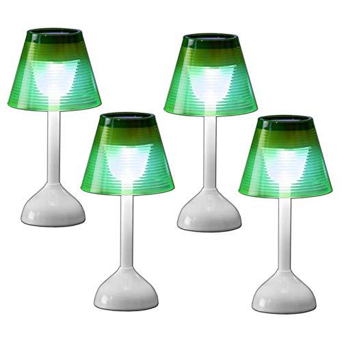 4er Set Solar LED Tischlampe Kunststoff Solarleuchte Lampe Tischleuchte Solarlampe Garten Beleuchtung Solarbetriebenes Tisch Dekolicht
