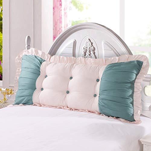 MHKJ Bank Kussen Grote rug Zacht en Comfortabel Sectie Katoen Twill Effen Kleur Print Staring Bed