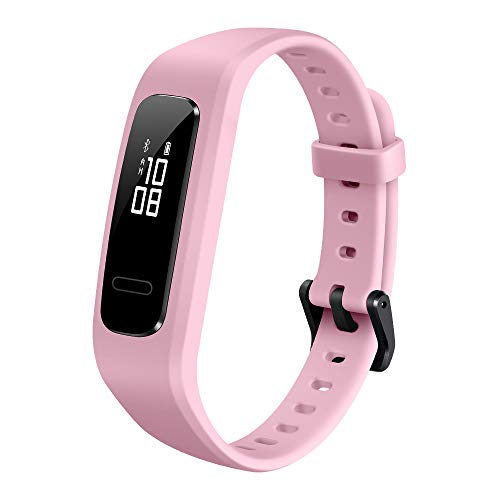HUAWEI Band 3e Smart Fitness Activity Tracker, Dual Wrist & Footwear Mode, 5ATM Water Resistance for Swim, Professional Running Guidance, Pink, One Size