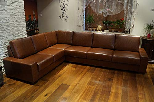Quattro Meble Hoekbank California 216x287cm Leather Bank Echt Leather Hoekbank Grote kleurkeuze !! !