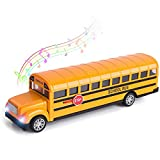 Think Wing School Bus Toy for Toddlers, 8.5 inch Die...