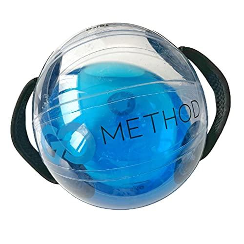 GoMethod Balón Medicinal de Agua para Entrenamiento - Bola de Peso de 30cm de Diámetro - Capacidad 14L - Mayor Equilibrio, Estabilidad y Coordinación - Incluye Aqua Ball e Inflador - AKUAFIT