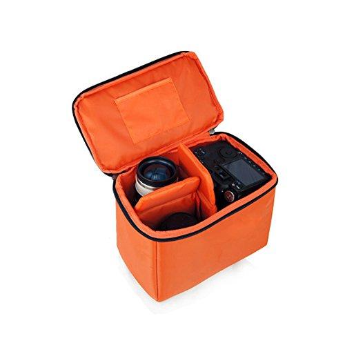 Yimidear Orange Wasserdicht Stoß Partition Gepolsterte Kamera-Taschen SLR DSLR Insert Schutztasche mit Top-Griff für DSLR Einstellung Objektiv oder Blitzlicht (Naher)