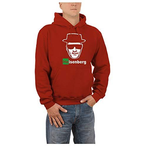 Touchlines - Heisenberg Walter White Kapuzen Sweatshirt - Pullover Red, XXXL